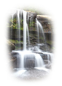 reiki healing waterfall